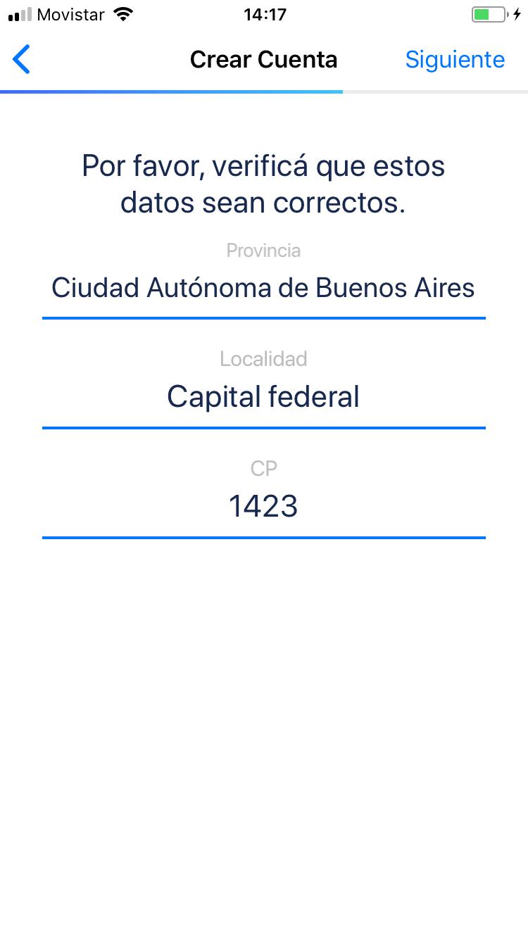 Datos de envo de tu tarjeta Ual