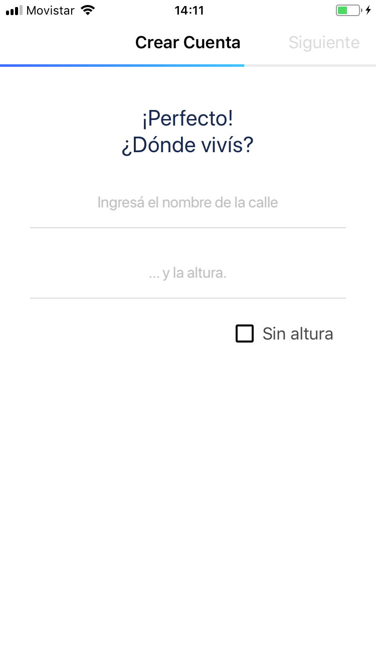 Datos de direccin de tu tarjeta Ual
