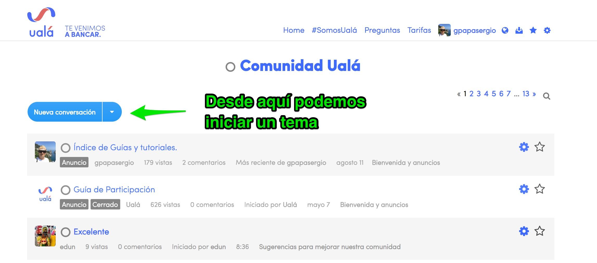 Como obtener ayuda en la comunidad Ual