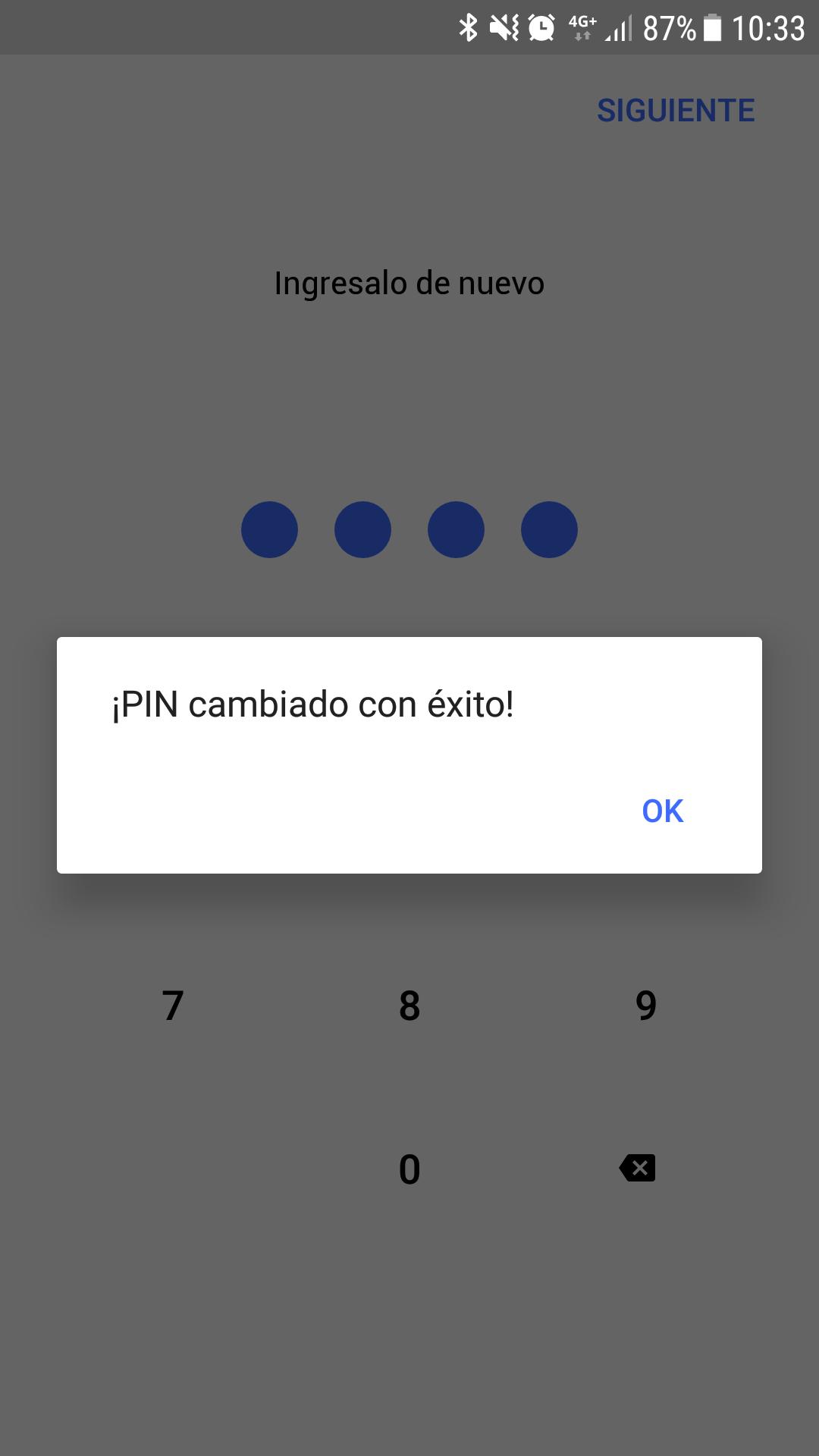 Crear o Modificar Pin de Cajero en Ual App