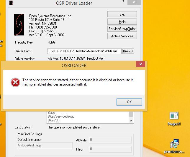 Cannot run driver kmdf on Vitual Box  — OSR