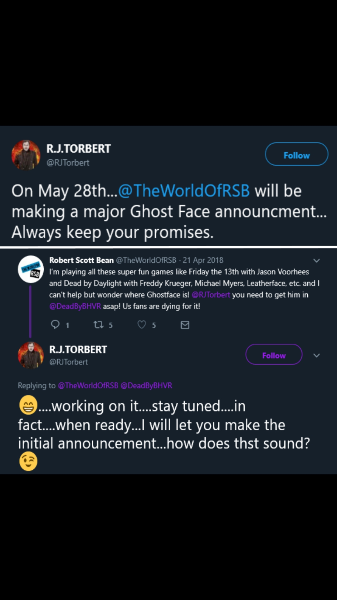 Ghost Face is coming to DbD  News soon  — Dead By Daylight