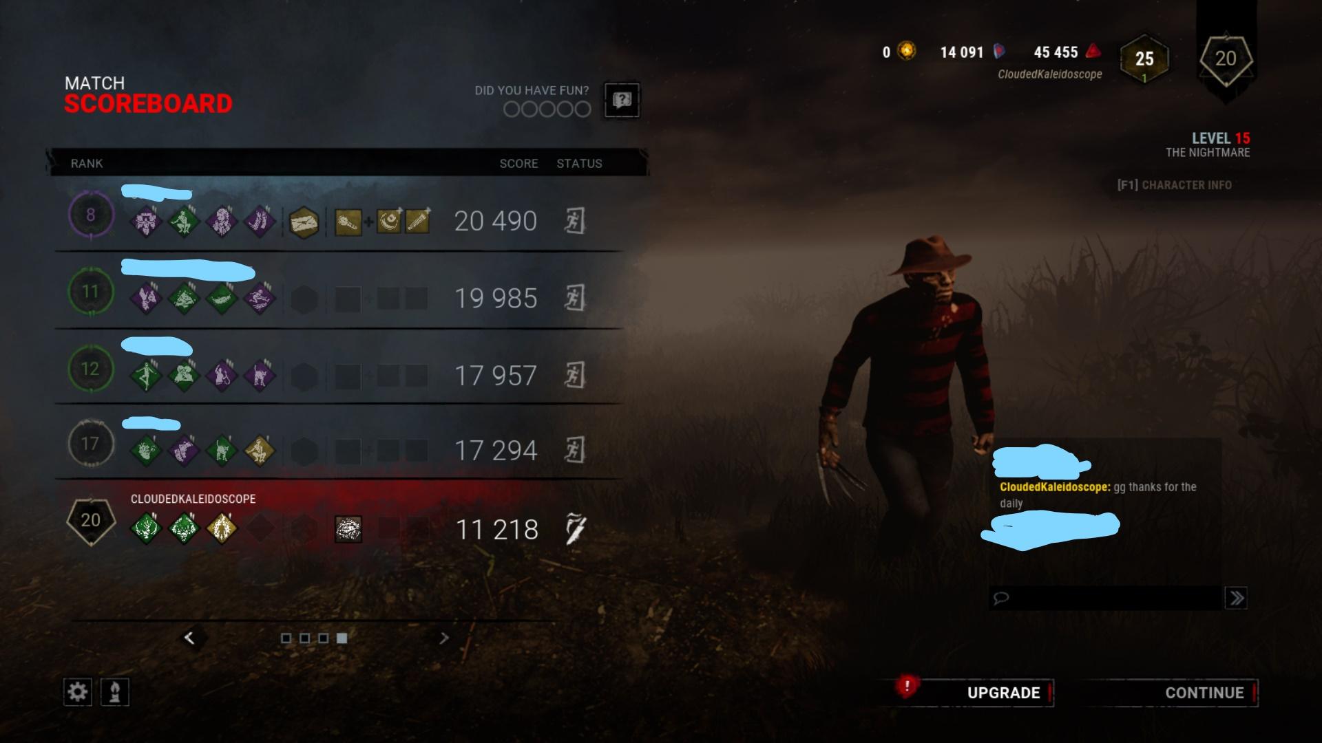 Matchmaking lobby