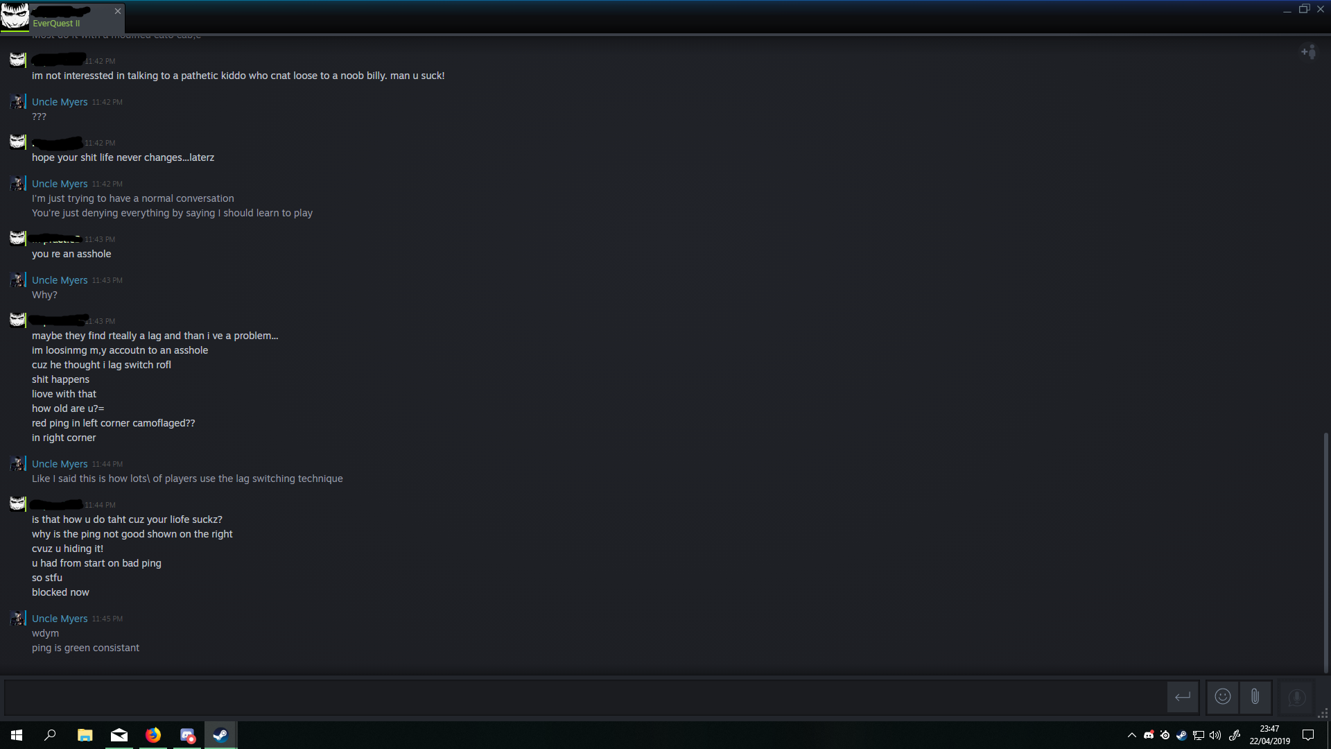 Added player I reported on steam and asked him if he got