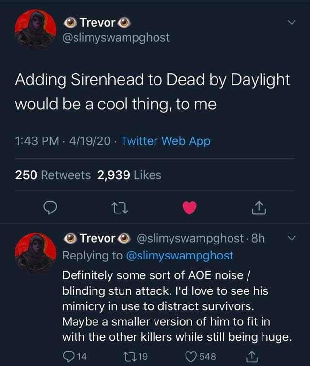 Sirenhead For Dbd Dead By Daylight