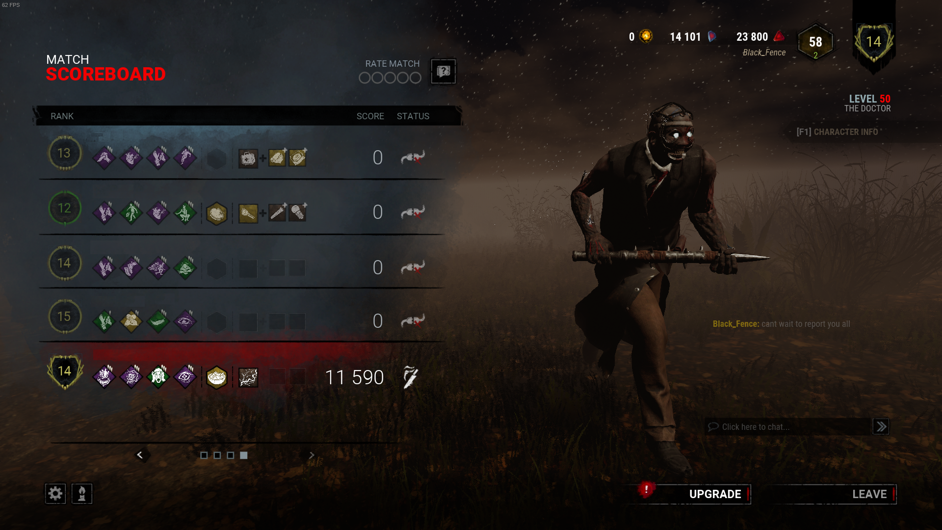 Why is this not bannable or even reportable? Come on BHVR! — Dead By