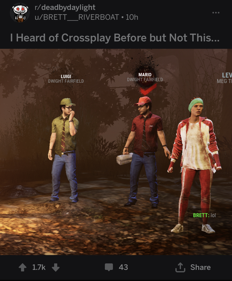 DBD Reddit is a gold mine — Dead By Daylight