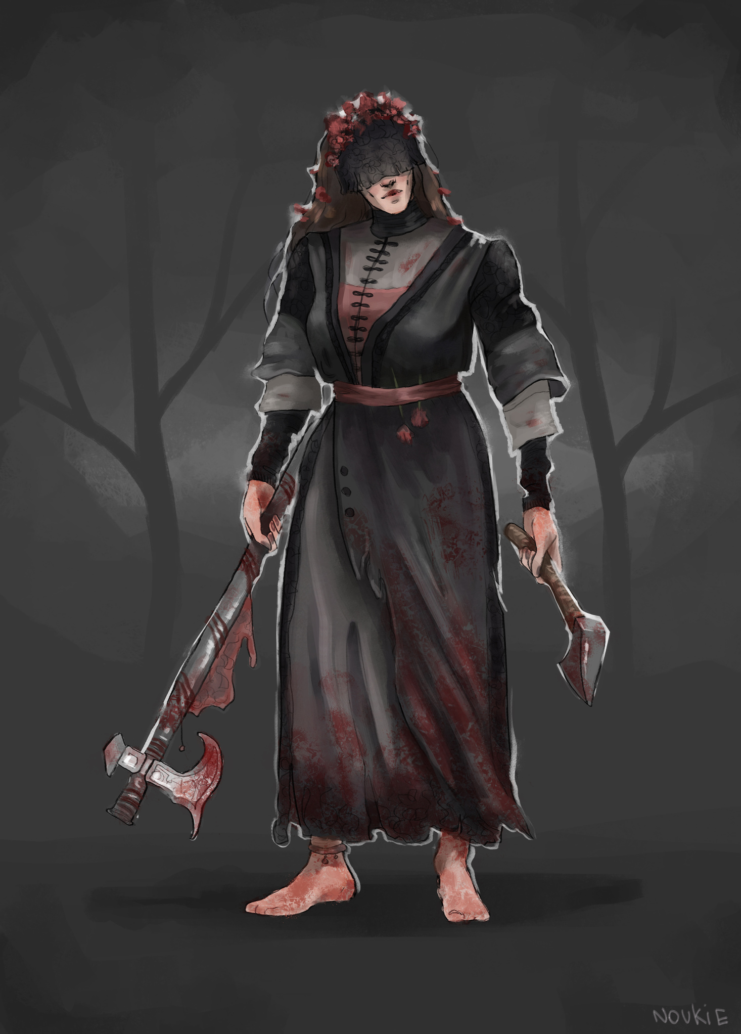 Huntress Skin Dead By Daylight Halloween 2020 THE HUNTRESS   Mother's Mourning | Skin Concept — Dead By Daylight