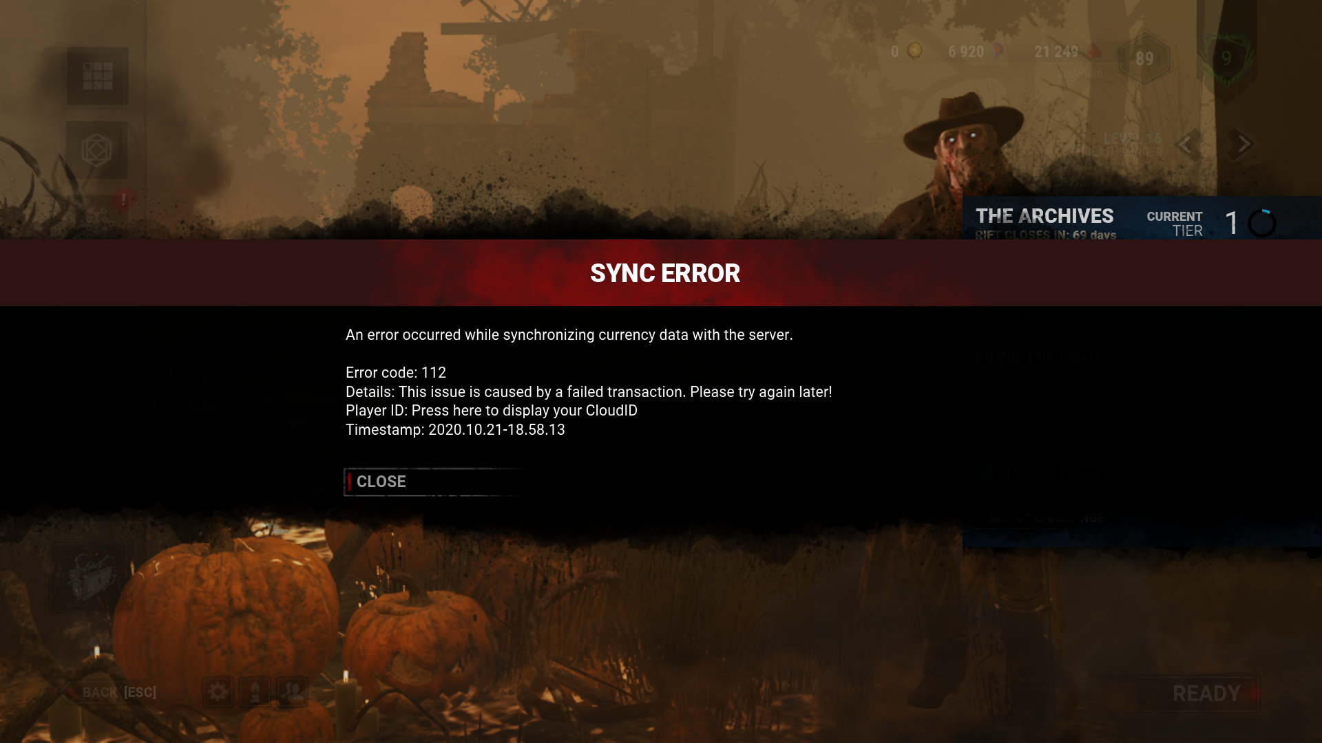 DBD 112 error in October.png