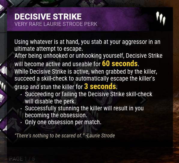 Design   Decisive Strike — Dead By Daylight