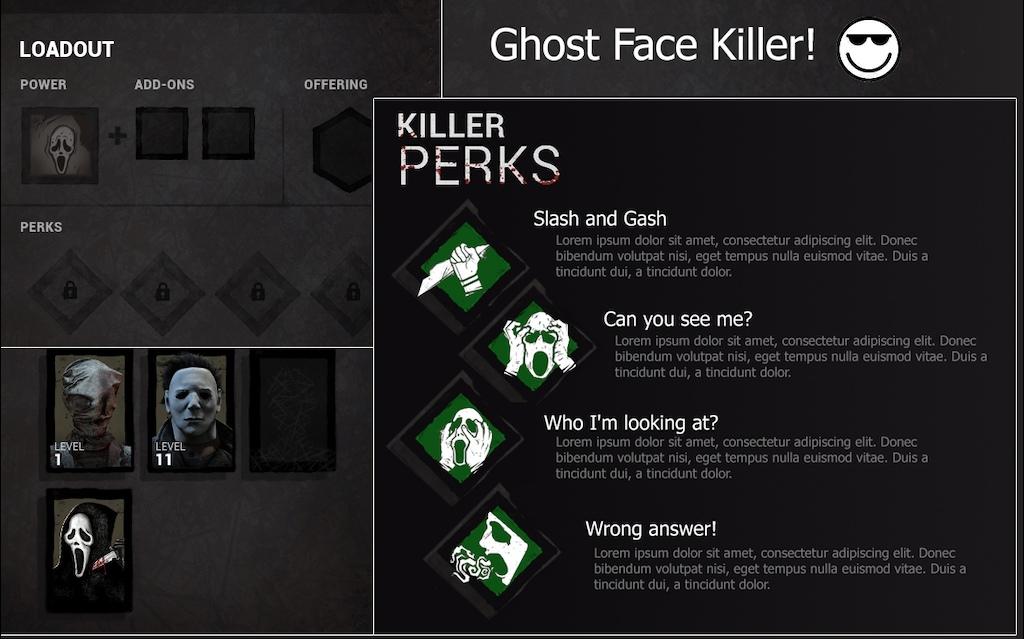 Killer Idea) Ghostface — Dead By Daylight
