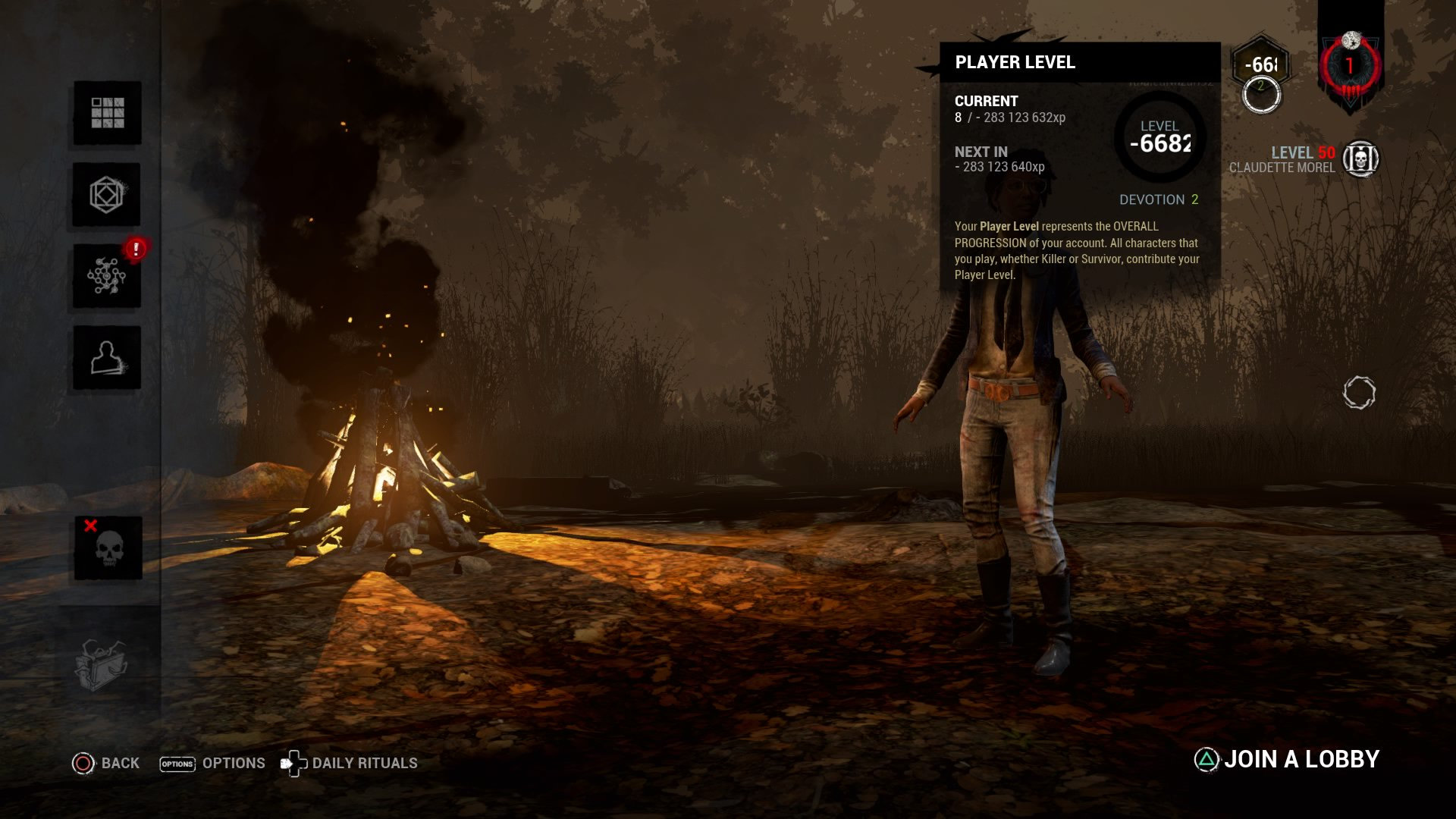 Player Level Glitch — Dead By Daylight