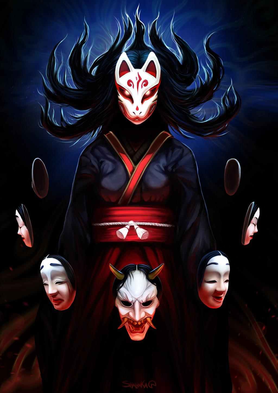 Kitsune mask Kitsune mask, Kitsune, Character art