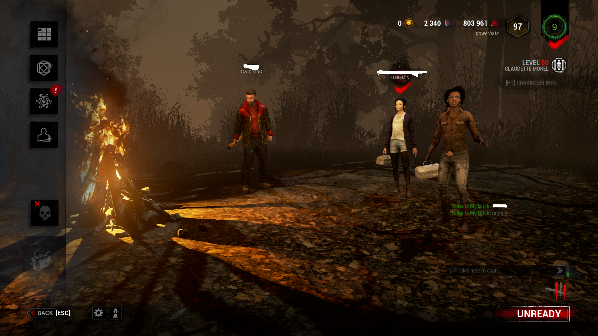 Killer Is Able To Communicate To Survivors In Survivor Lobby