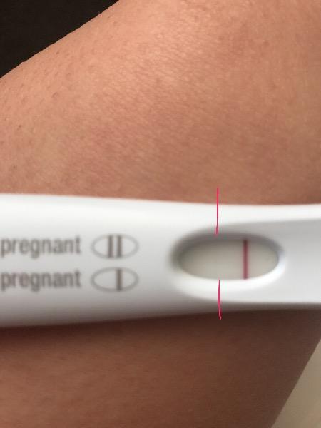 Pregnant strip for husband