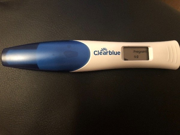pregnancy test positive faint line clear blue