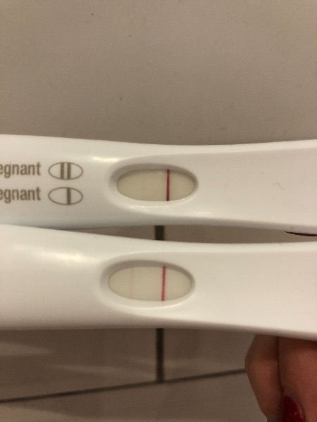 Very Faint Lines First Response Test 11dpo Madeformums Forum