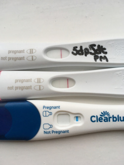 Faint bfp frer but negative clear blue the day after