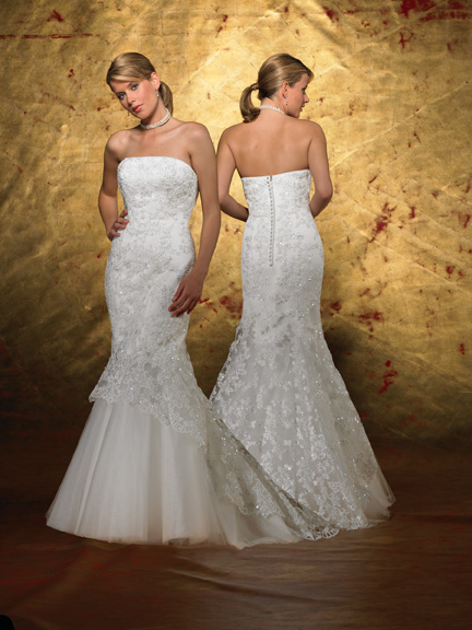 Forever Yours Fishtail Wedding Dress Ing To Knees Then Flares Out Tulle At Bottom Of Give It A Shape Only Tried On Times