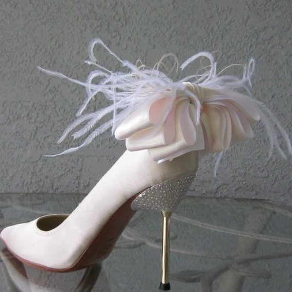 white bow clips for shoes
