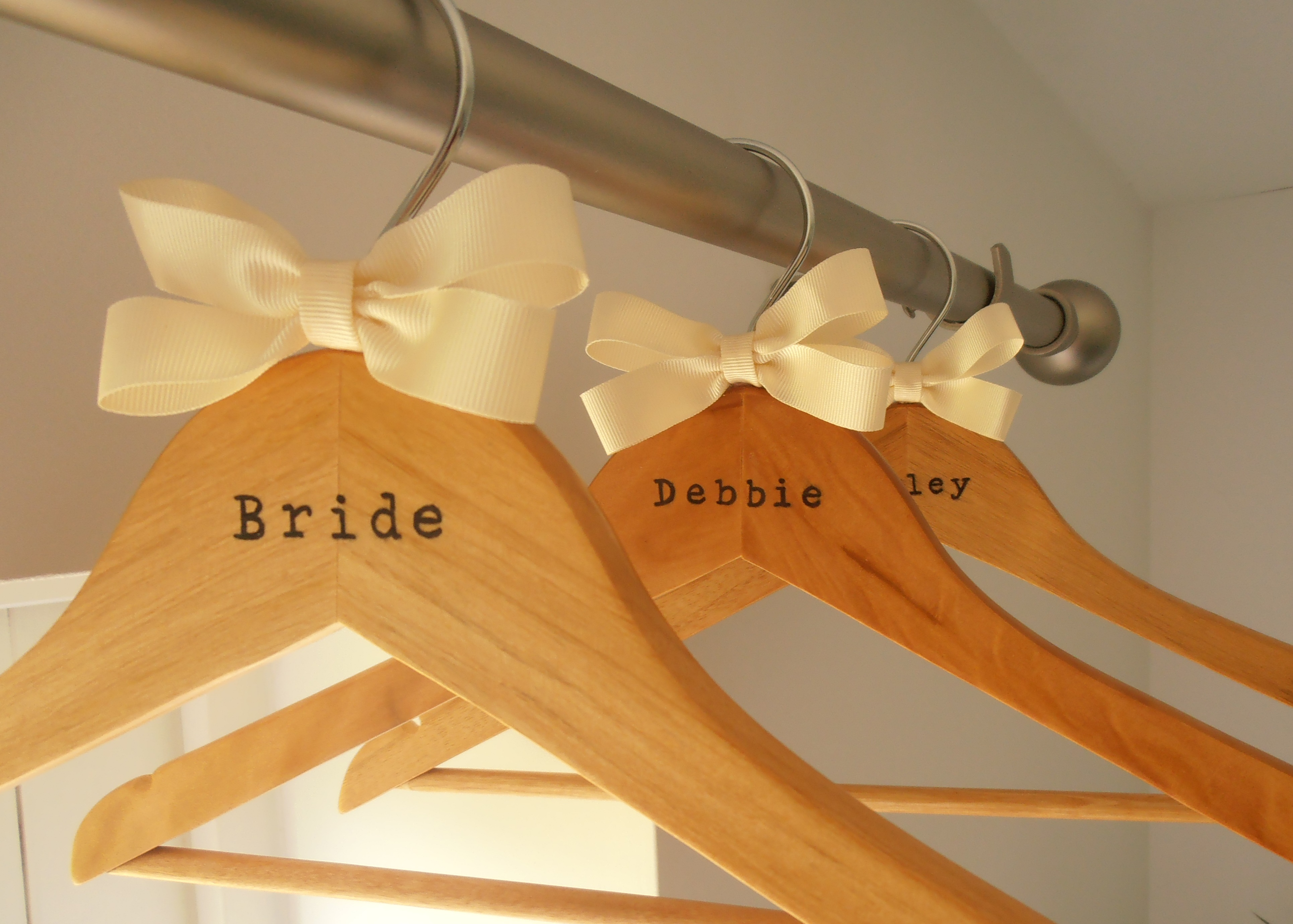 For Personalised Bridal Hangers You Your Wedding