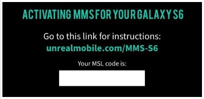 Activate MMS (Picture Messaging) on your UNREAL Mobile phone