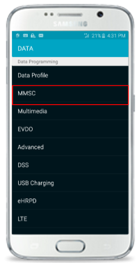Activate MMS on your Samsung S6 Smartphone