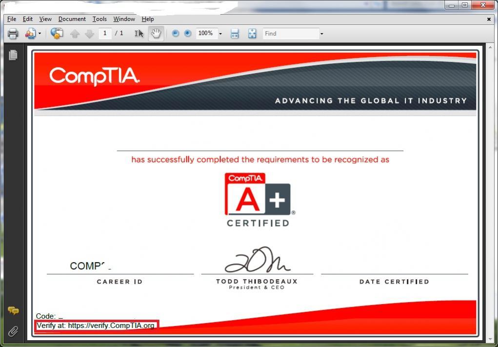 comptia certification certificate network discrepancy plus certifications verify community 7k 86k