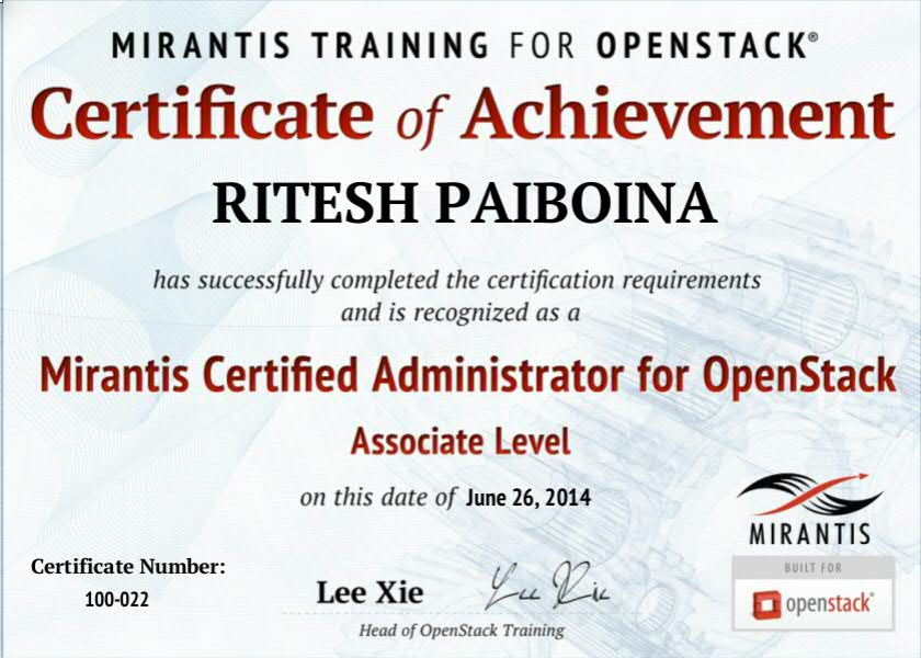 Mirantis Certified Administrator For Openstack Techexams Community