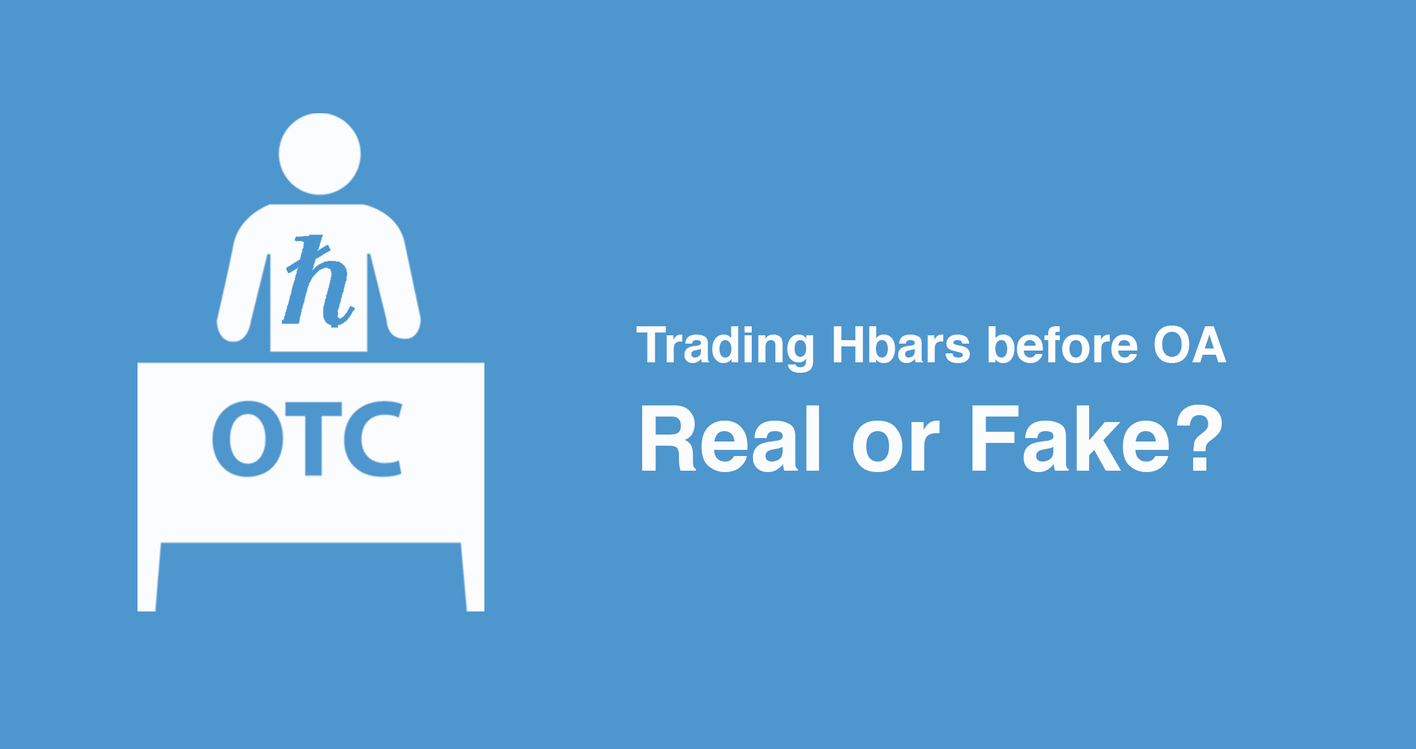 Trading Hedera Hashgraph Hbar tokens before OA - Real or