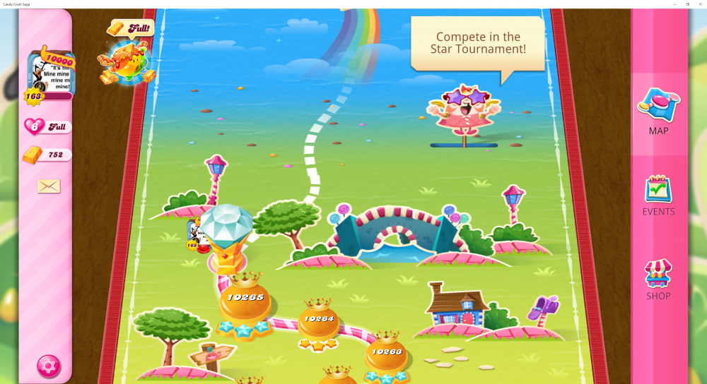 My Current Map Level 10,266 (Finished Level 10,265) 71st x At End Of The Game - Candy Crush Saga - Origins7 Dale.png