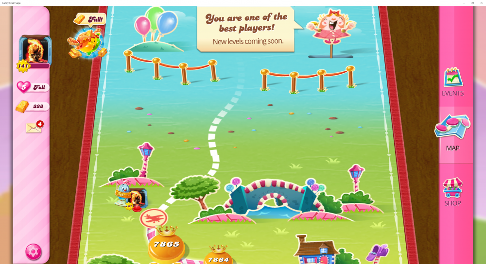 My Current Map Level 7866 (Finished Level 7865) 19th x At End Of The Game - Candy Crush Saga - Origins7 Dale.png