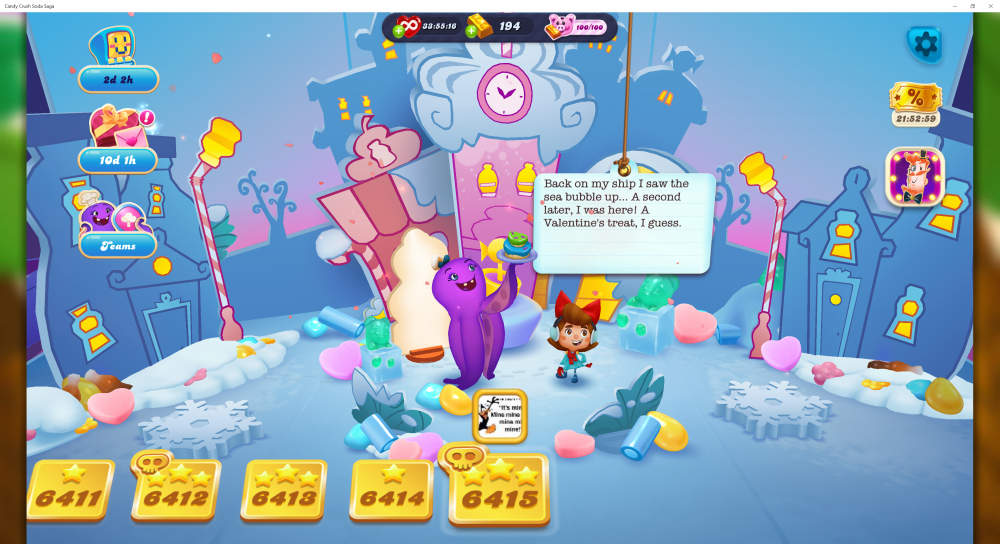 My Current Map Level 6416 (Finished Level 6415) Episode Is Unknown On New Soda Navigation Map - Candy Crush Soda Saga - Origins7 Dale.png