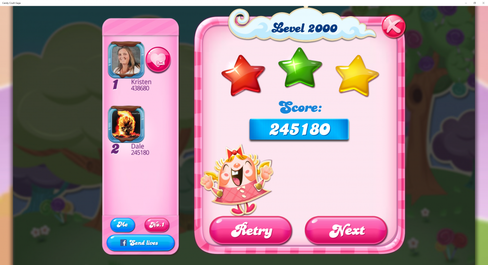My Score on Level 2000 on Candy Crush Saga is 245180 - Origins7 Dale.png