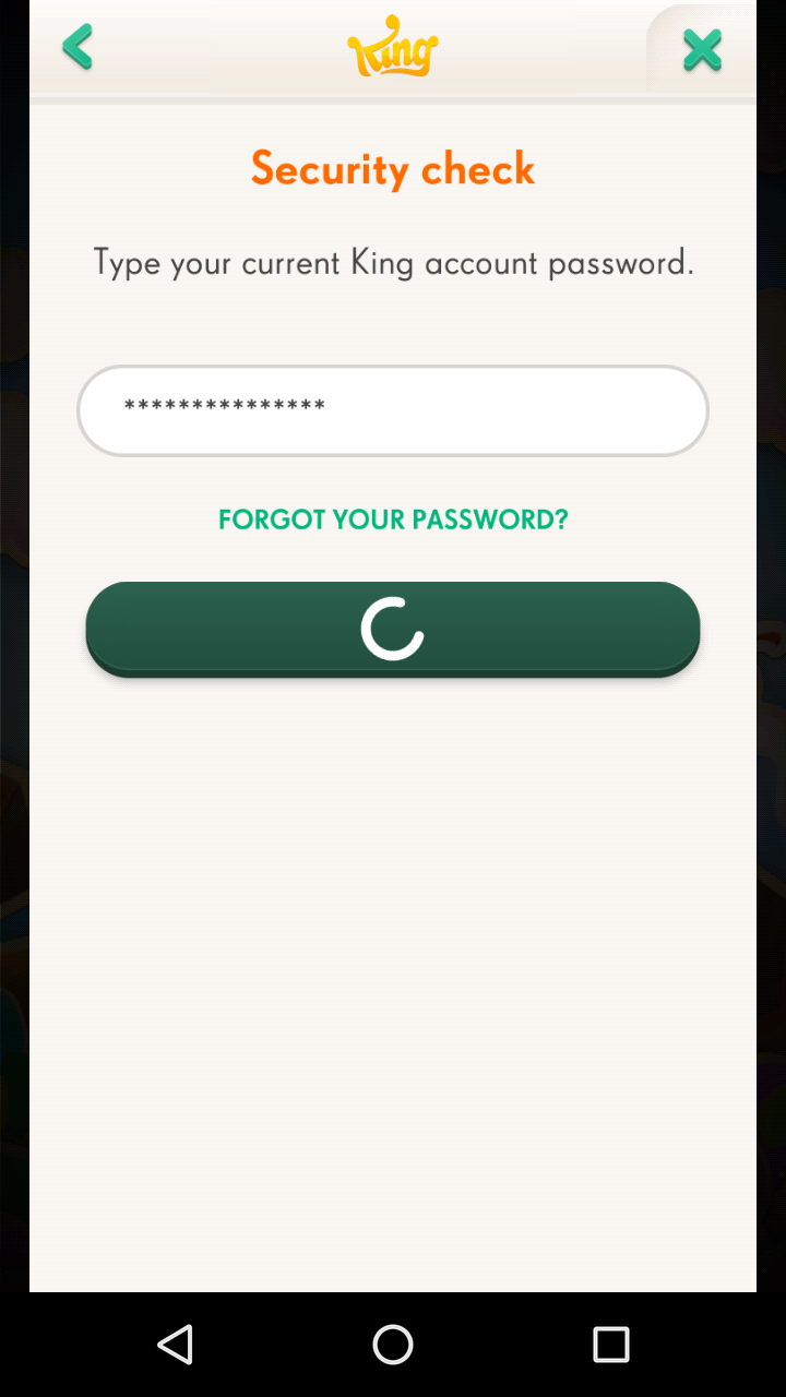 I Cannot Login To The Game Or Change My Password Without An Internet Connection King Community