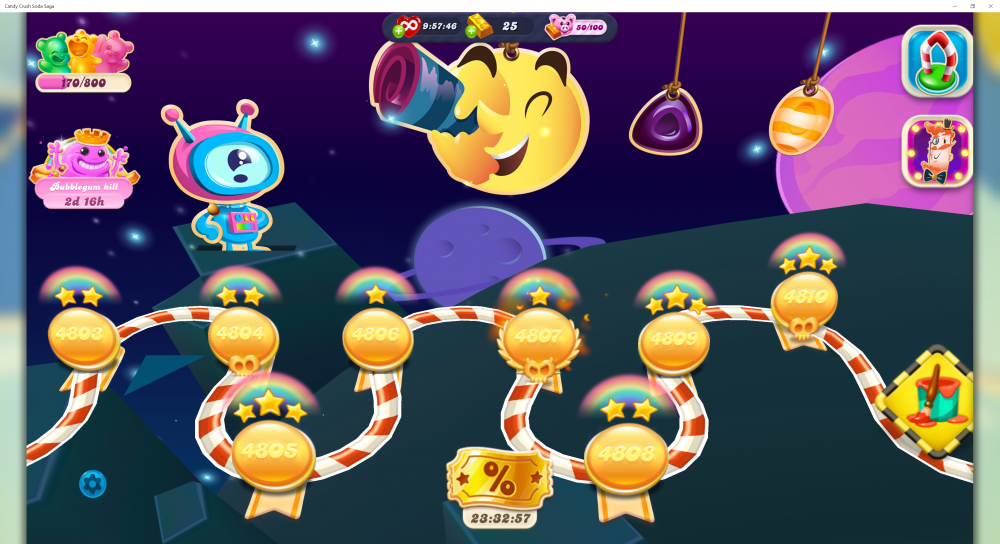 My Current Map Level 4811 (Finished Level 4810) On Candy Crush Soda Saga - Origins7 Dale.png