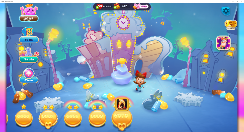 My Current Map Level 6071 (Finished Level 6070) Episode Is Unknown On New Soda Navigation Map - Candy Crush Soda Saga - Origins7 Dale.png