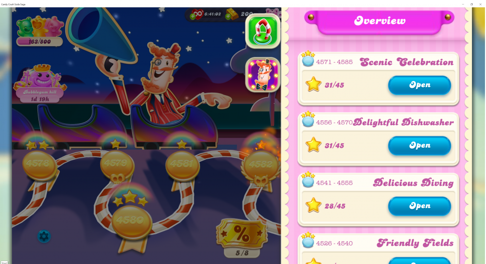 My Current Episode is Scenic Celebration Level 4585 on Candy Crush Soda Saga - Origins7 Dale.png