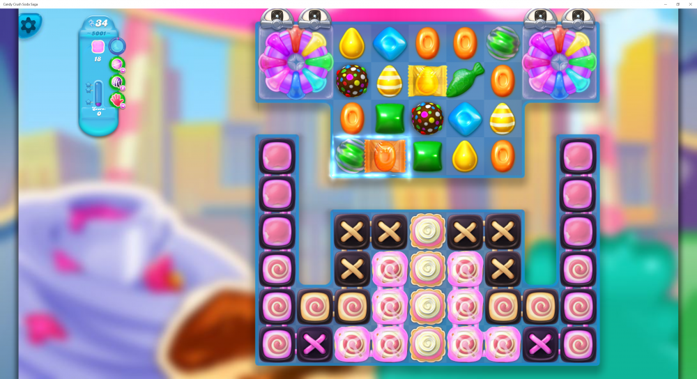 Supersonic Lolly Fading - Hard Level 4990 1st Piece - Lolly Fading Out Level 5001 - Candy Crush Soda Saga - Origins7 Dale.png