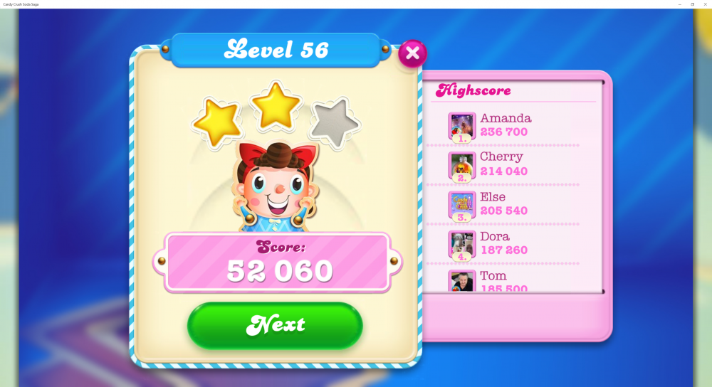 Level 56 - Lowest Score 52,060 @LadyRaffie - CCSS - Origins7 Dale.png