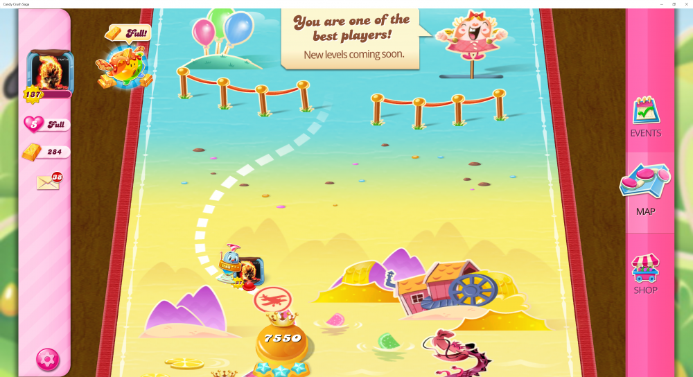 My Current Map Level 7551 (Finished Level 7550) Candy Crush Saga - End Of Game For The 12th Time - Origins7 Dale.png