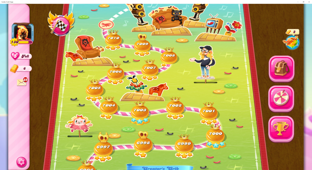 My Map Level 7000 On Candy Crush Saga - Origins7 Dale.png