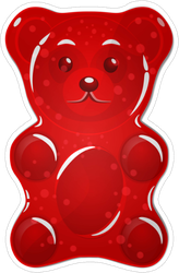 Red Gummy Bear Candy Sticker.png
