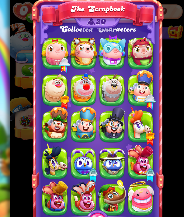 Candy Crush Friends 20 Characters Collected 21st January 2021.png