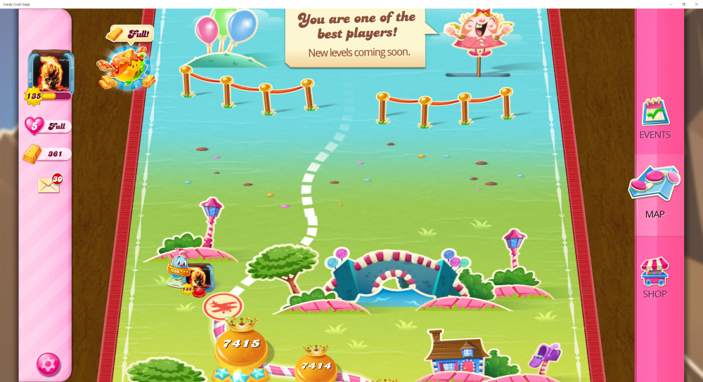 My Current Map Level 7416 (Finished Level 7415) Candy Crush Saga - End Of Game For The 9th Time - Origins7 Dale.png