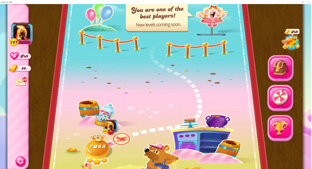 My Current Map Level 7055 Candy Crush Saga - End Of Game For The First Time Ever - Origins7 Dale.png