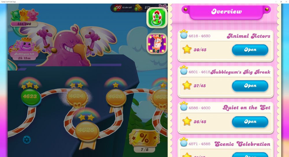 My Current Episode is Animal Actors Level 4630 on Candy Crush Soda Saga - Origins7 Dale.png