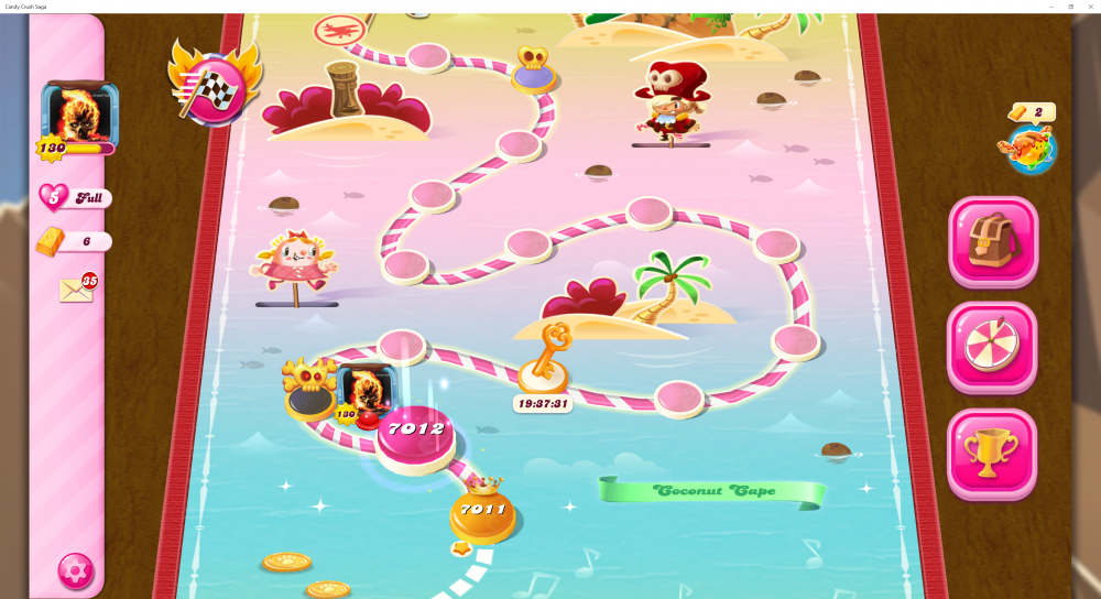 My Current Map Level 7012 - Stuck Here Due To A Reported Looping Issue - Candy Crush Saga - Origins7 Dale.png
