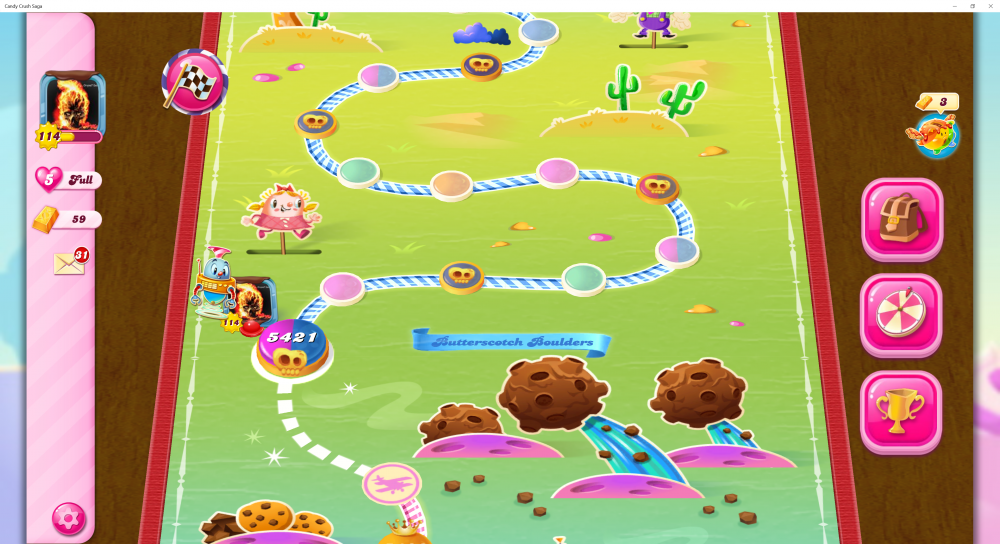 My Current Level 5421 on Candy Crush Saga - Origins7 Dale.png