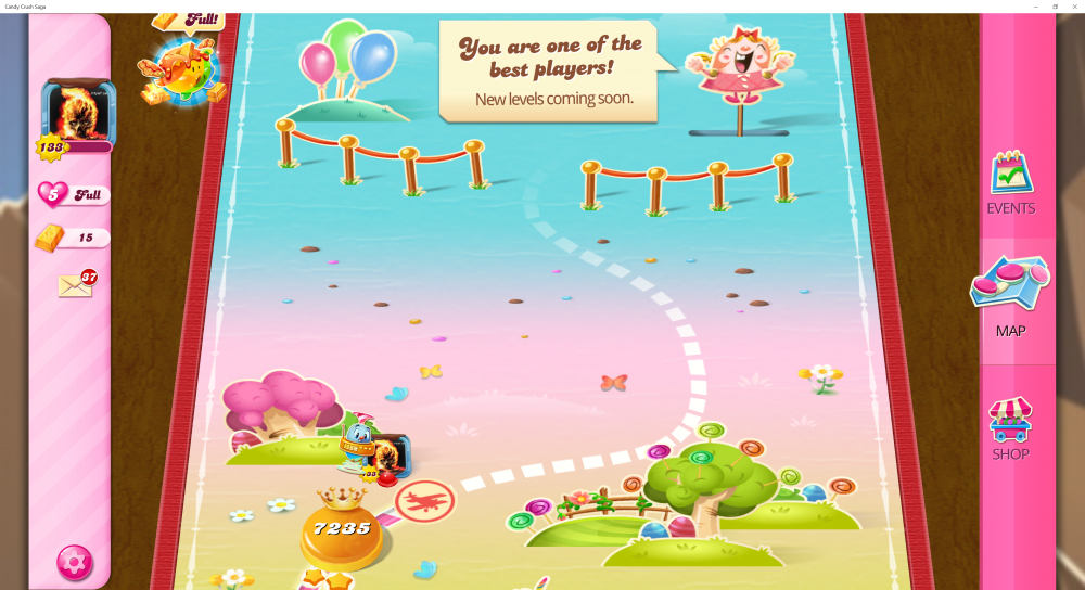 My Current Map Level 7236 (Finished Level 7235) Candy Crush Saga - End Of Game For The 5th Time - Origins7 Dale.png